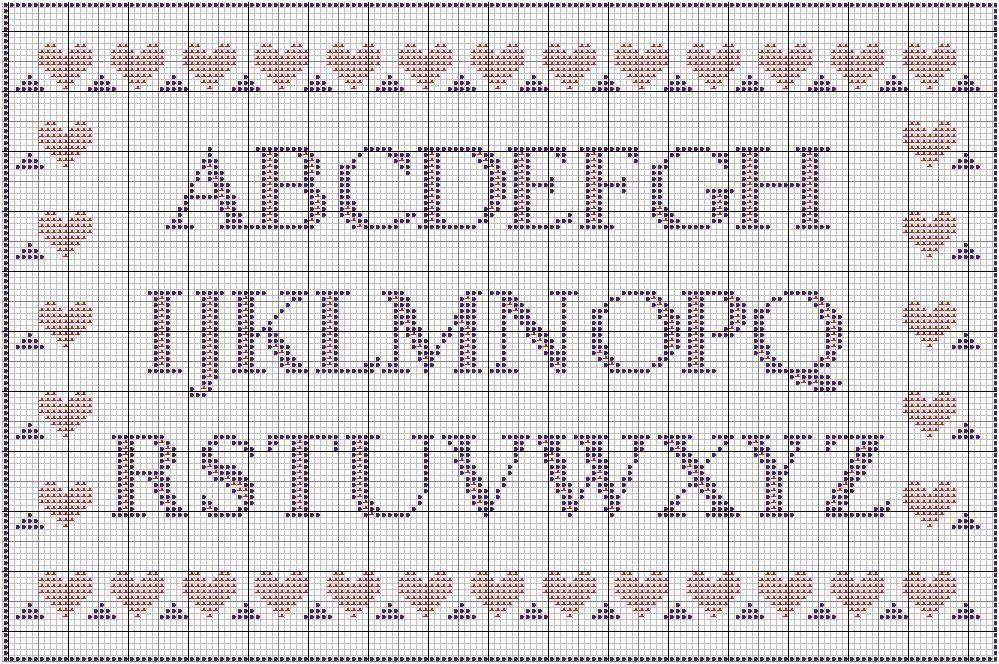 Broderie point de croix grille gratuite alphabet - Broderie point compte grille gratuite ...