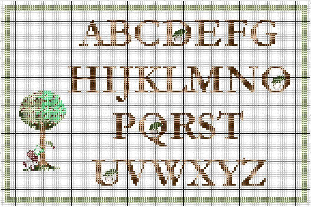 Grilles gratuites abecedaires - Grille point de croix lettre ...