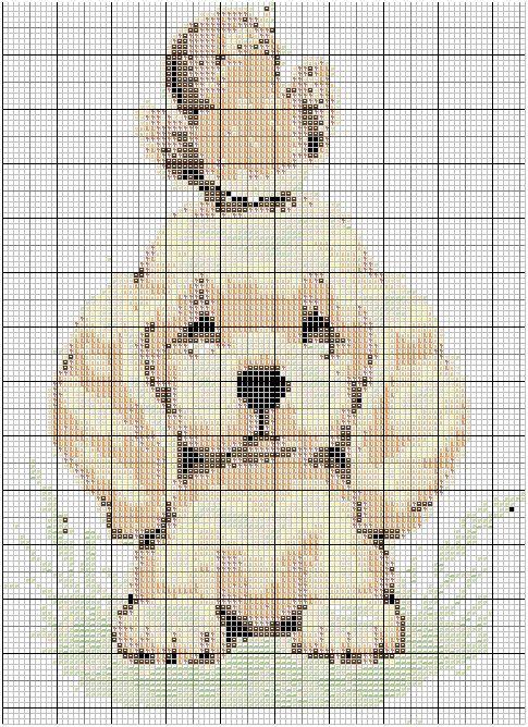 Point de croix grilles gratuites a imprimer chien - Point de croix grilles gratuites ...